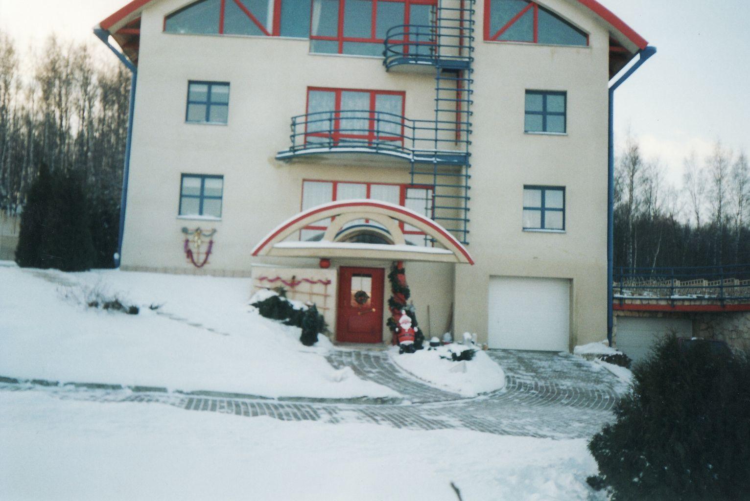 Частный дом SOFTLINE 70 Синий и Красный